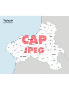 Mappa dei comuni e CAP della provincia di Vibo Valentia jpg
