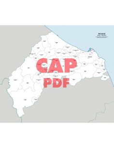 Mappa dei comuni e CAP della provincia di Ancona pdf