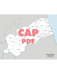 Mappa dei comuni e CAP della provincia di Ascoli Piceno pdf