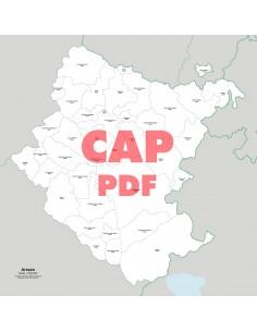 Mappa dei comuni e CAP della provincia di Arezzo pdf