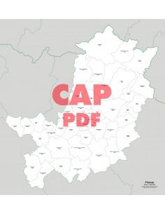 Mappa dei comuni e CAP della provincia di Firenze pdf