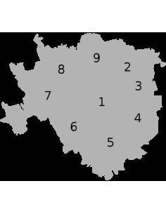 Mappa delle zone di Milano ShapeFile