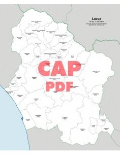 Mappa dei comuni e CAP della provincia di Lucca pdf