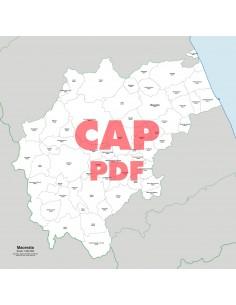 Mappa dei comuni e CAP della provincia di Macerata pdf