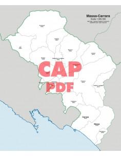 Mappa dei comuni e CAP della provincia di Massa-Carrara pdf