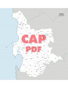 Mappa dei comuni e CAP della provincia di Oristano pdf