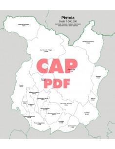 Mappa dei comuni e CAP della provincia di Pistoia pdf