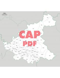 Mappa dei comuni e CAP della provincia di Rieti pdf
