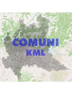Mappa dei comuni della Lombardia KML