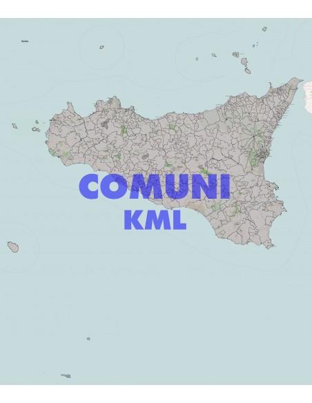 Cartina Sicilia Comuni.Mappa Dei Comuni Della Sicilia Kml