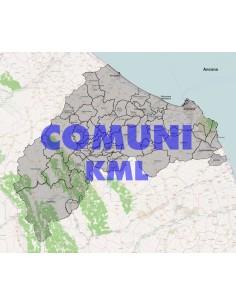 Mappa dei comuni della provincia di Ancona KML