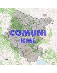 Mappa dei comuni della provincia di Arezzo KML