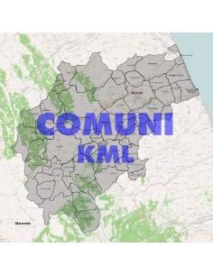 Mappa dei comuni della provincia di Macerata KML