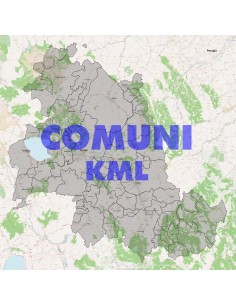 Mappa dei comuni della provincia di Perugia KML