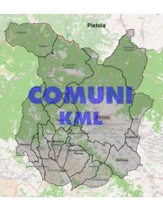 Mappa dei comuni della provincia di Pistoia KML