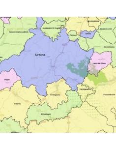 Cartina Geografica Provincia Di Pesaro Urbino.Mappa Dei Comuni Della Provincia Di Pesaro Urbino Kml