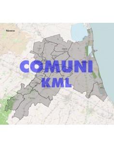 Mappa dei comuni della provincia di Ravenna KML