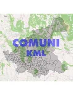 Mappa dei comuni della provincia di Rieti KML