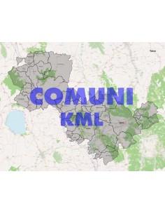 Mappa dei comuni della provincia di Terni KML