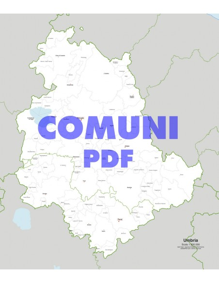 Cartina Dell Umbria Da Stampare.Mappa Dei Comuni Dell Umbria Pdf
