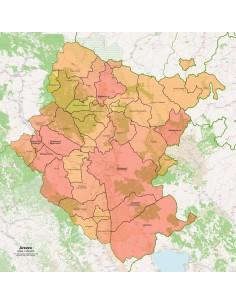 Cartina Geografica Di Arezzo.Mappa Dei Comuni Della Provincia Di Arezzo Pdf