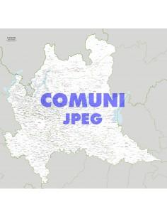Mappa dei comuni della Lombardia jpg