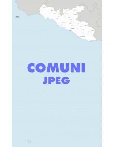 Mappa dei comuni della provincia di Agrigento jpg