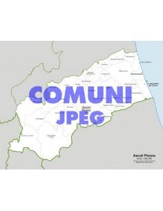 Mappa dei comuni della provincia di Ascoli Piceno jpg
