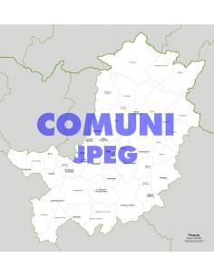 Mappa dei comuni della provincia di Firenze jpg