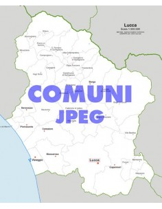 Mappa dei comuni della provincia di Lucca jpg