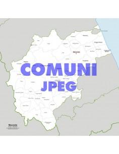 Mappa dei comuni della provincia di Macerata jpg