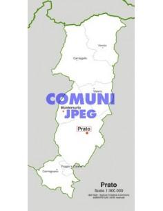 Mappa dei comuni della provincia di Prato jpg