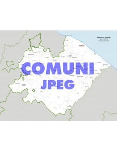 Mappa dei comuni della provincia di Pesaro Urbino jpg