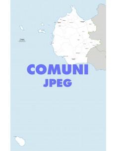 Mappa dei comuni della provincia di Trapani jpg
