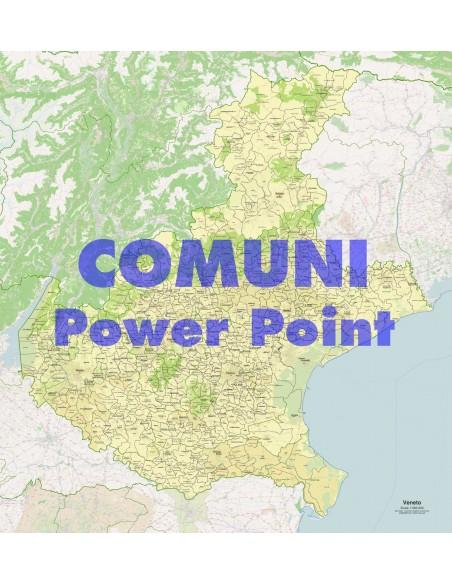 Cartina Comuni Veneto.Mappa Dei Comuni Del Veneto Ppt