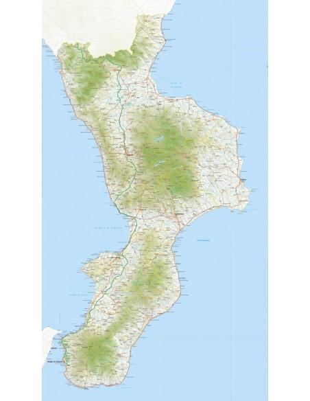Cartina Calabria Immagini.Mappa Della Calabria Pdf Scala 1 200 000