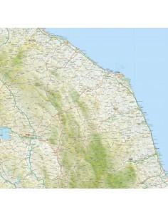 Cartina Stradale Marche Dettagliata.Mappa Della Marche Pdf Scala 1 200 000