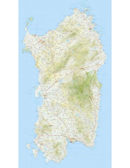 Cartina Geografica Sardegna Da Stampare.Mappa Della Sardegna Pdf Scala 1 200 000