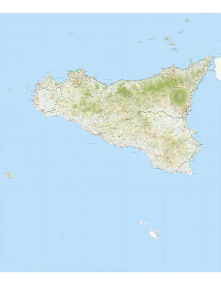 Cartina Sicilia Pdf.Mappa Della Sicilia Pdf Scala 1 200 000