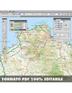 Stampa Cartina Sicilia.Mappa Della Sicilia Pdf Scala 1 200 000
