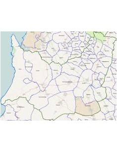 Mappa dei comuni della provincia di Medio Campidano ppt