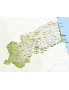 Mappa della provincia di Ascoli Piceno pdf scala 1:200.000