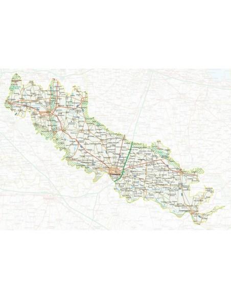 Cartina Geografica Cartina Comuni Della Provincia Di Cremona.Mappa Della Provincia Di Cremona Pdf Scala 1 200 000