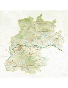 Mappa della provincia di Enna pdf scala 1:200.000
