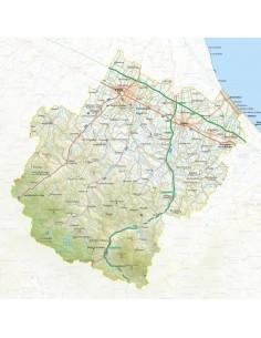 """Mappa della provincia di Forl""""-Cesena pdf scala 1:200.000"""