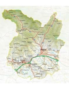 Mappa della provincia di Pistoia pdf scala 1:200.000