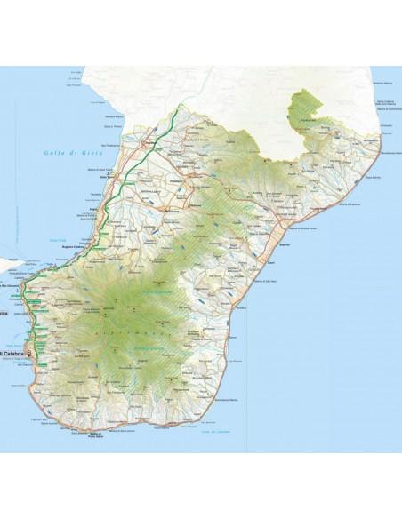 Cartina Geografica Calabria.Mappa Della Provincia Di Reggio Di Calabria Pdf Scala 1 200 000