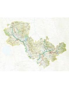 Mappa della provincia di Terni pdf scala 1:200.000