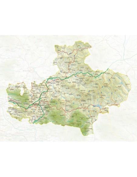 Cartina Italia Dwg.Mappa Della Provincia Di Avellino Jpg Scala 1 200 000