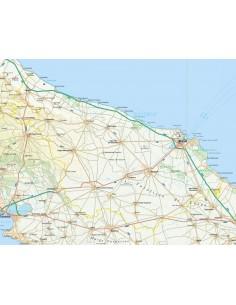 Brindisi Cartina Geografica.Carta Stradale Dell Italia In Jpeg Ad Alta Risoluzione